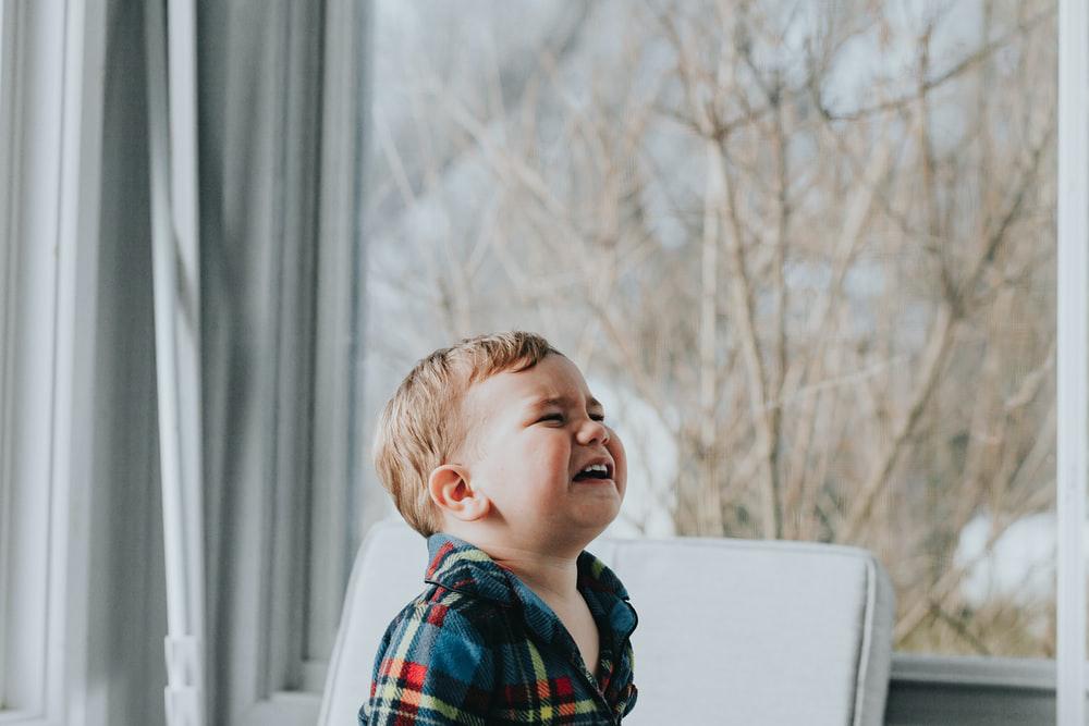 A scratchy throat can irritate children.
